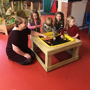 School Activity table with pit