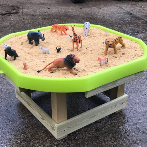 Sand filled tray activity table
