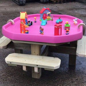 Octagonal activity table with seats