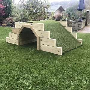 Play tunnel with grass mound from Discovering Days
