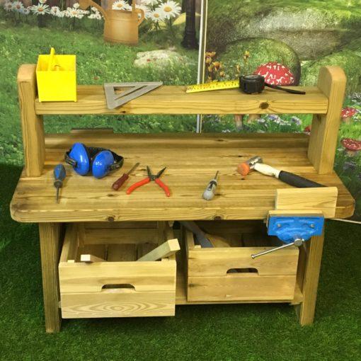 standard wooden workbench