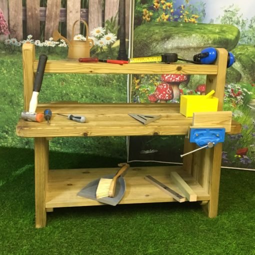wooden workbench for playgrounds
