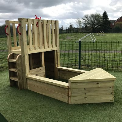 Timber Play Boat for nursery playgrounds from Disovering Days