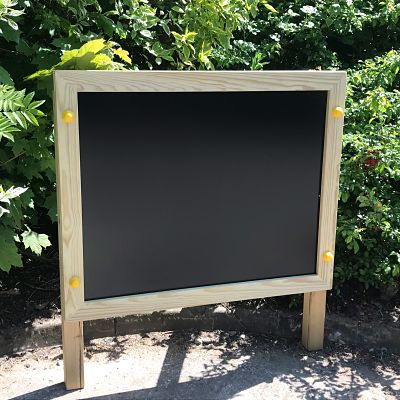 Post mounted chalk board from Discovering Days