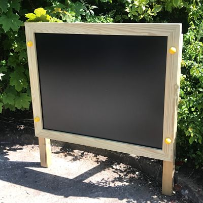 Post mounted chalk board from Discovering Days, manufacturers of playground equipment