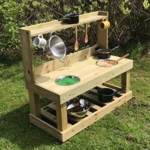 Wooden kitchen for school