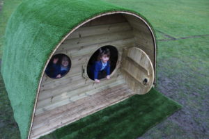hobbit house that helps develop personal, social, and emotional skills in children-perfect for school and nursery playgrounds