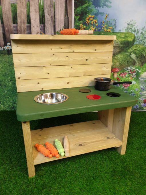 sturdy Caernarvon Basic Mud Kitchen with green top