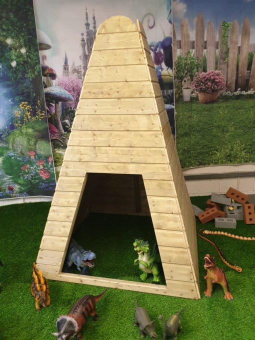 large wooden teepee for playgrounds from Discovering Days