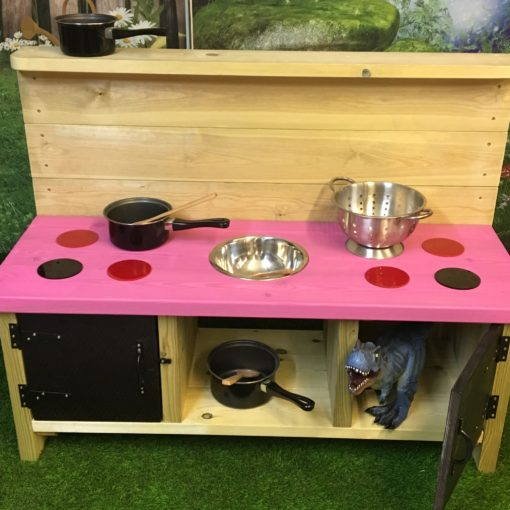 Buckingham Deluxe Mud Kitchen with pink top