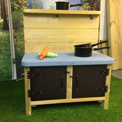 Sandringham small mud kitchen blue top