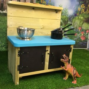 blue topped Sandringham small mud kitchen