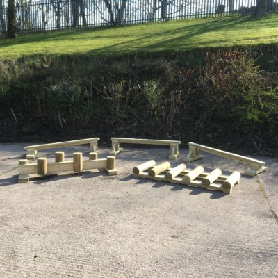 Free Standing Trim Trail - 5 piece children's assault course
